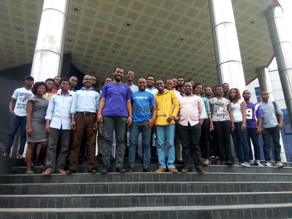 Emeka Afigbo with Start Innovation Hub Team