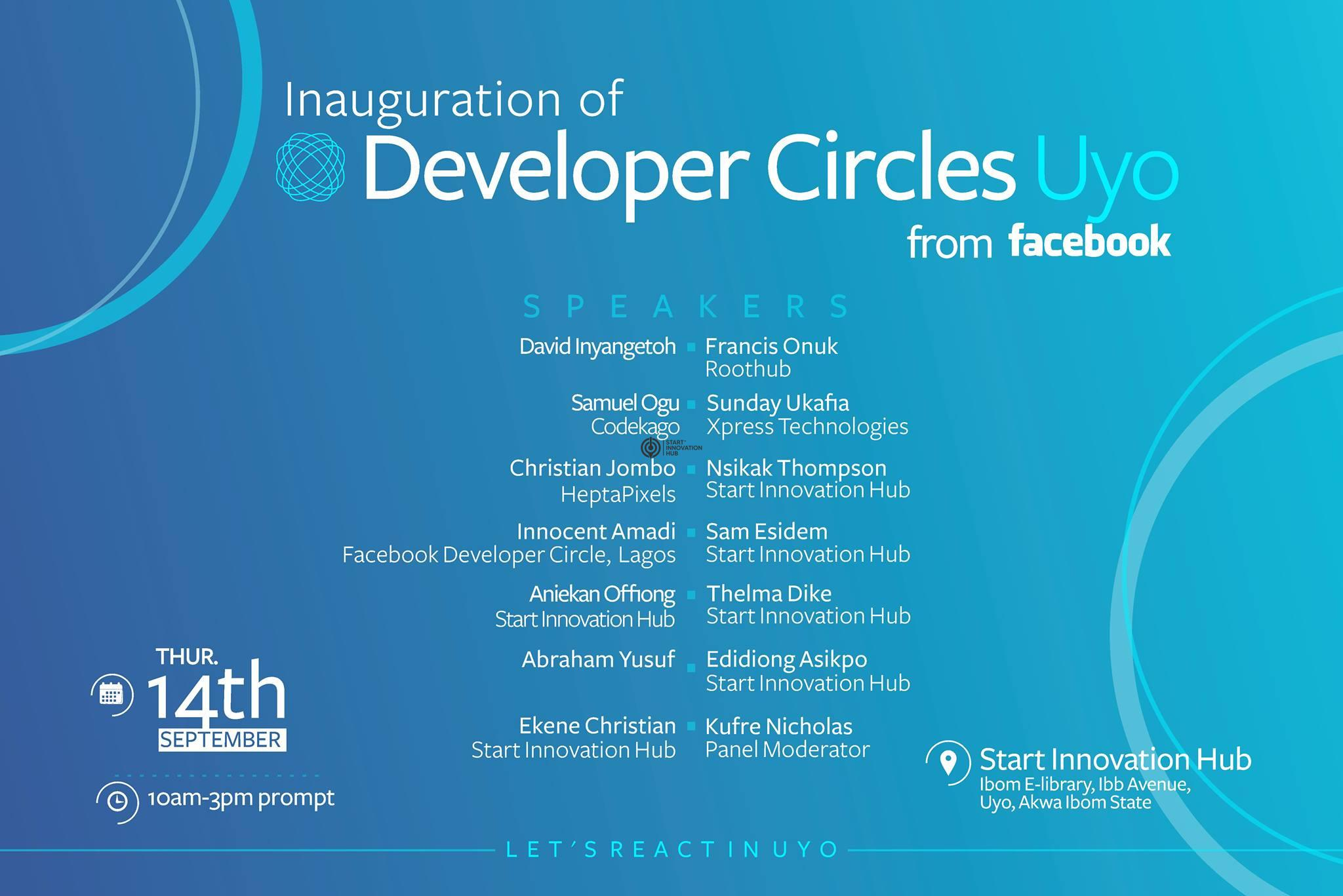 Facebook Developer Circle Uyo Inaugural Event