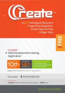 CREATE 1.1 – Free Web Development Training in Uyo