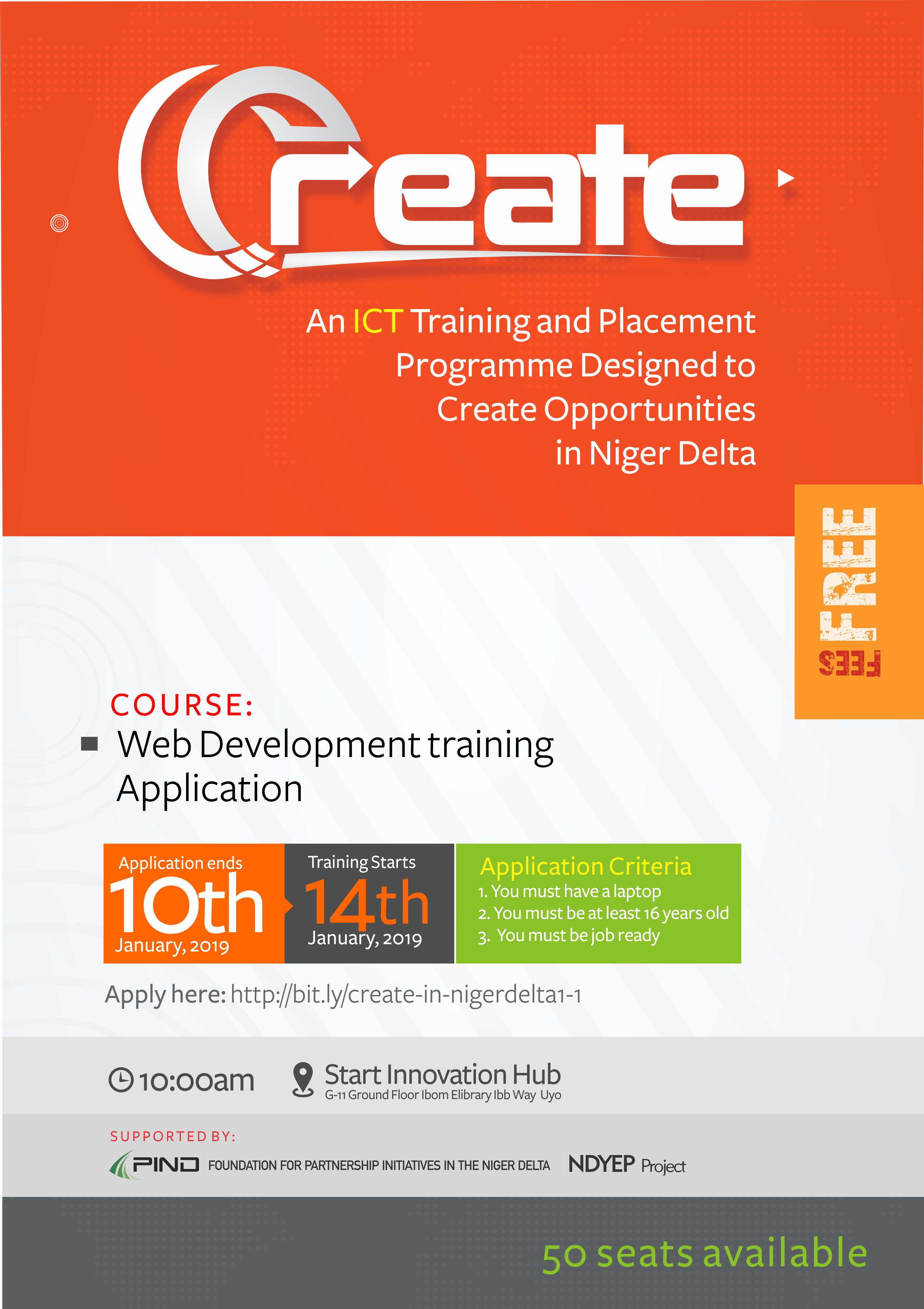 You are currently viewing CREATE 1.1 – Free Web Development Training in Uyo