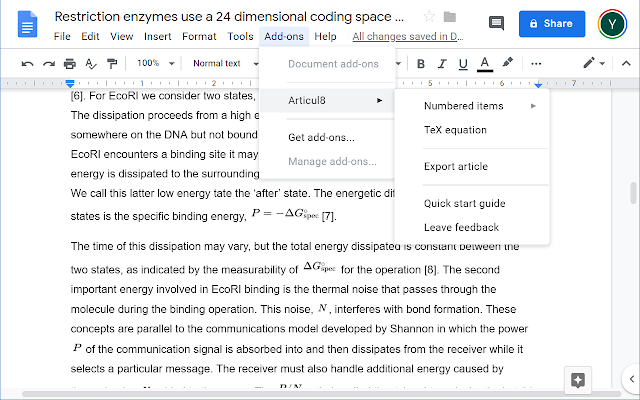 Google Docs for collaboration