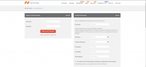 Creating or Logging into a Namecheap account
