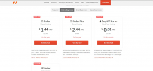 Namecheap web hosting process
